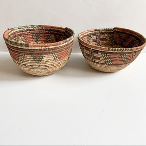 Rope baskets patterned boho planter